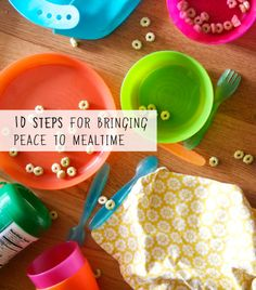 10 steps to easier and more peaceful family meals (amen to that!)