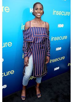 STYLECASTER | 17 Celebrities Who Wore A Dress Over Pants | Issa Rae