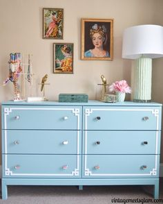 Your IKEA Furniture just got better with our Pippa Kit! Our simple and stylish panels allow you to take your common IKEA furniture and transform it into beautiful and affordable custom furnishing! Ikea Dresser Makeover, Ikea Furniture Makeover, Ikea Furniture Hacks, Furniture Decor, Painted Furniture, Laminate Furniture, Furniture Buyers, Teal Dresser, Pine Dresser