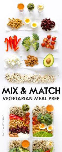 Want to get into meal prepping, but overwhelmed by how to make your meals? I've created a formula for the easiest, tastiest vegetarian meal prep recipe...Mix & Match Meal Prep!
