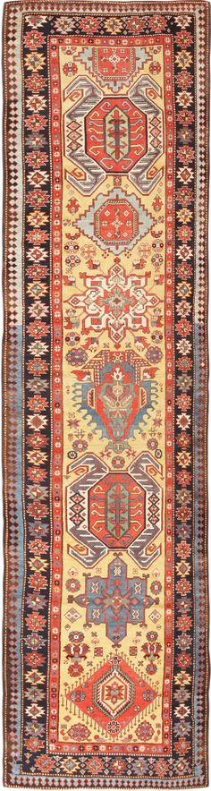 Antique Lenkoran / Talish Caucasian Runner 47264 Main Image - By Nazmiyal -- Long part of hallway!!!