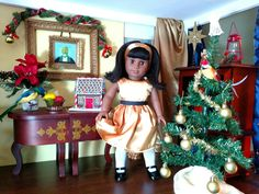 Today in the dollhouse... getting dressed up for the dollidays