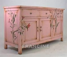 ... Desires / Re-purposing by painting furniture adds a whimsical