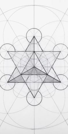 Star Tetrahedron inside the Metatron's Cube Sacred Geometry Patterns, Sacred Geometry Tattoo, Geometric Drawing, Geometric Shapes, Platonic Solid, Math Art, Technical Drawing, Mandala Art, Flower Mandala