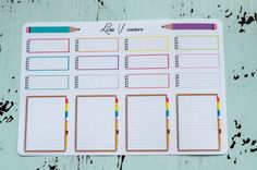 Inside Notebook stickers for your planner or by LisaVcreations
