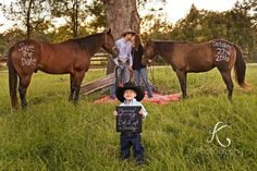 Western rustic engagement picture with my two favorite horses:) #westernwedding