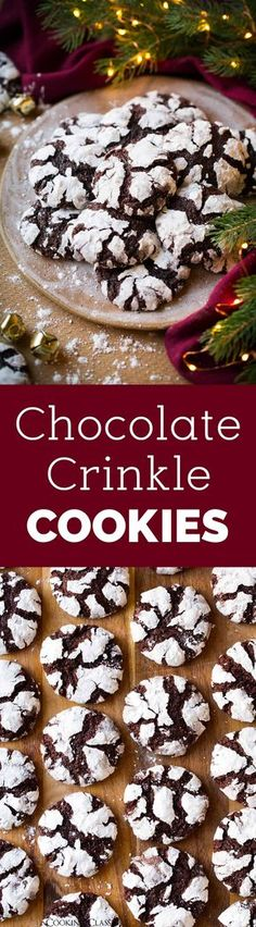 The BEST Chocolate Crinkle Cookies - the cookie we all love! Perfectly soft, tender and chewy. A lot like a brownie but in cookie form - in other words these cookies are sure to satisfy! #christmascookies #cookies #dessert #christmas #chocolatecrinklecookies via @cookingclassy