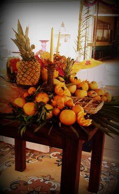 A mesa da fruta...apetitosa