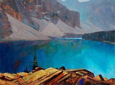 Brent Lynch (Canadian)  'Above Moraine Lake' (field study) Banff Nat. Park 20 X 16 in. oil on canvas
