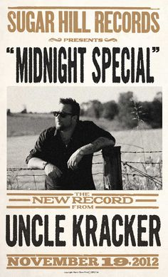 Sugar Hill Records - Autographed Midnight Special Hatch Show Print - Uncle Kracker