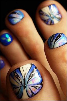 toe nail art designs to keep up with trends – page 14 Related Pedicure Nail Art, Pedicure Designs, Toe Nail Designs, Toe Nail Art, Wild Nail Designs, Pedicure Ideas, Nails Design, Pretty Toe Nails, Cute Toe Nails