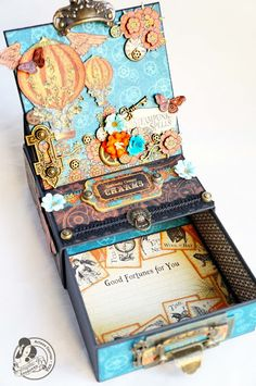 steampunk spells easel card box - by butterfly kisses - Arlene Cuevas - (image 1 of 2)