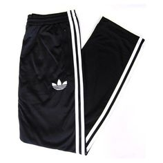 Adidas Originals Firebird Track Pants (bottoms) Black/White ($65) ❤ liked on Polyvore featuring activewear, activewear pants, pants, bottoms, track suit, adidas originals, adidas originals tracksuit and track pants