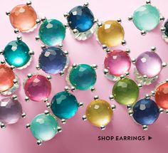 Sterling Silver Rock Candy Wonderland Studs in Rainbow