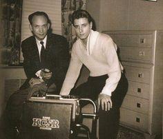 Eddie Cochran with Mr.Freman Hover at the Albany Hotel in Denver, CO. November 1957