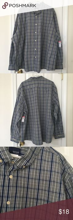 Big Men's Navy Blue and Gray Plaid Shirt Reasonable offers gladly accepted! Items from smoke and pet free home Fast same or next day shipping Any flaws are noted in description/photos Packaging recycled/reused-please recycle Please reach out with any questions! Like/follow for frequent sales/new inventory Thank you for visiting my closet! (: Basic Editions Shirts Casual Button Down Shirts