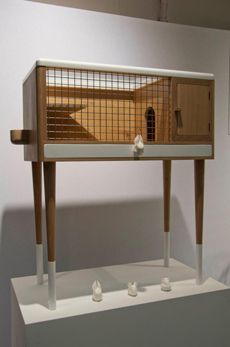 rabbit cage by chimere edition Rabbit Cages, All About Rabbits, Chicken Cages, Angora Rabbit, Farm Yard, Cat Tree, Animal House, Cat Furniture, Guinea Pigs