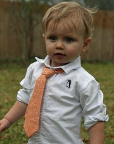 Ty used to love wearing ties when he was little