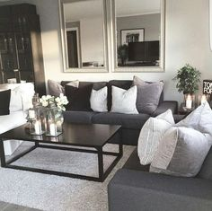 giant mirrors add the illusion of doubling the space. 2019 giant mirrors add the illusion of doubling the space. The post giant mirrors add the illusion of doubling the space. 2019 appeared first on Sofa ideas. Living Room Sets, Home Living Room, Apartment Living, Living Room Designs, Living Room Decor, Cozy Apartment, Cozy Living, Living Room Mirrors, Small Living