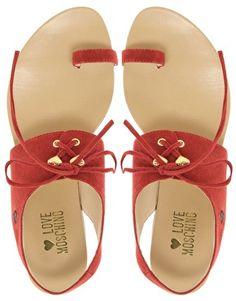 Love Moschino Tout Le Jour Laced Flat Sandals