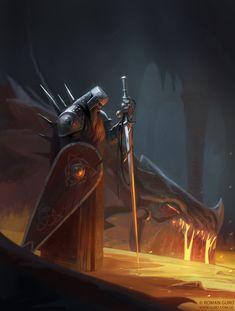 Dragonrider for Character Design Challenge! by Roman Guro Fantasy Wizard, Fantasy Warrior, Medieval Fantasy, Dark Fantasy, Character Design Challenge, Dragon Artwork, Roman, Fantasy Illustration, Fantasy Inspiration