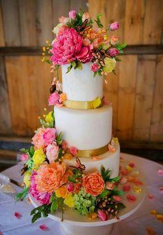 Butterfly Flower cake