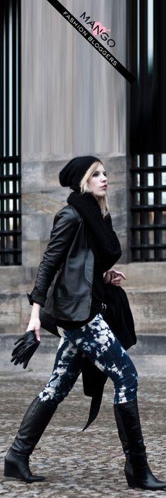 RED REIDINGHOOD wearing MANGO leather - gloves, boots, and jacket!  #MANGO #Fashion #Blogger