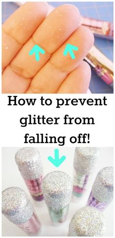 How to prevent glitter from falling off just about anything — purses, shoes, decorations, or beauty product packaging!