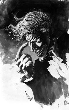 A commission of joker for a fan from Singapore. Alan Quah Another Joker Sketch Joker Comic, Joker Dc, Joker And Harley Quinn, Batman Art, Marvel Art, Marvel Dc Comics, Comic Style Art, Comic Art, Joker Sketch