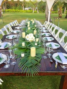Tropical Wedding Decor, Tropical Party, Tropical Decor, Tropical Wedding Centerpieces, Tropical Weddings, Hawaiian Party Decorations, Wedding Table Decorations, Outdoor Table Centerpieces, Backyard Party Decorations