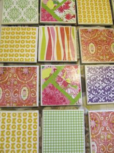 DIY Patterned Coasters and Hot Plate @Amanda Warner Pinterest Party with the Mugs?