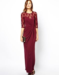 9a20a350066 Jumpsuit With Double Layer Halter. Burgundy Maxi DressHourglass ...