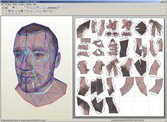 Papercraft Self Portrait - Art Portfolio for Eric Testroete