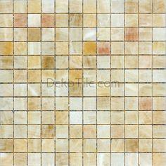 1 x 1 Honey Onyx Polished Mosaic Tiles