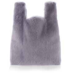 Fur Tote   Moda Operandi (8,725 CNY) ❤ liked on Polyvore featuring bags, handbags, tote bags, simonetta ravizza, tote purses, fur tote bag, purple tote and handbags totes