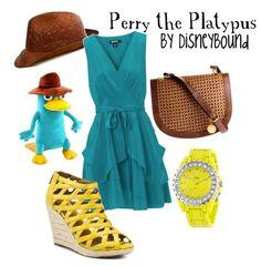 Disney Bound Perry the Platypus espech for my friend Matthew