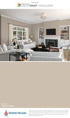 I found this color with ColorSnap® Visualizer for iPhone by Sherwin-Williams: Bungalow Beige (SW 7511).