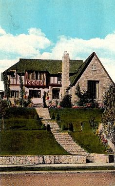 Jean Harlow's former home at 1353 Club View Drive, Los Angeles. Rin-Tin-TIn lived across the street from her until his death, at 14 yrs old.  This link: paradiseleased.wordpress.com is an Excellent site if you love old homes and their histories...check it out!