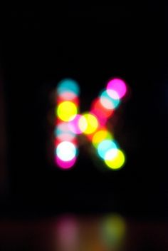 bokeh letter K Cool Lettering, Logo Design, Graphic Design, Letters And Numbers, Decorative Items, Iphone Wallpaper, At Least, Creations, Just For You