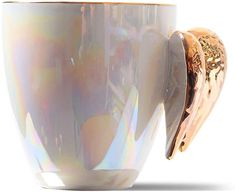AmazonSmile: Golden Winged Angel Mug Stylish Novelty Ceramic Color Pearl Mug/Cup Angel gifts for Women-Mother's Day Gifts: Kitchen & Dining Gifts For Girls, Gifts For Women, White Angel Wings, Golden Wings, Gifts In A Mug, Gift Mugs, Ceramic Angels, Best Coffee Mugs, Hello Gorgeous