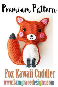 Fox amigurumi ragdoll rag doll crochet pattern