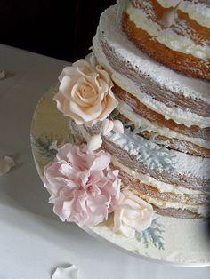 Naked Wedding Cake. by Dulcie Blue Bakery, via Flickr