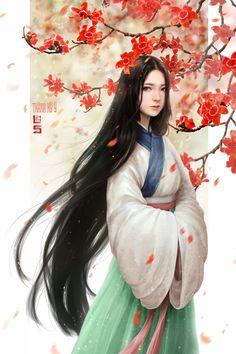 Illustrations for novel Painting Of Girl, China Art, Fantasy Girl, Anime Art Girl, Ancient Art, Drawing, Japanese Art, Female Art, Asian Beauty