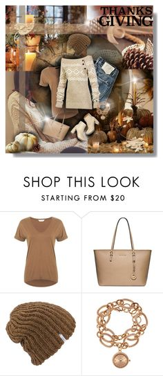 """""""Give Thanks"""" by tracireuer ❤ liked on Polyvore featuring Miss Selfridge, STELLA McCARTNEY, Michael Kors, Coal, LolÃ« and Louis Arden"""