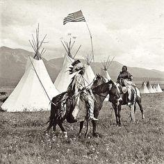 Дункан Макдональд и его жена. Резервация флатхед, Монтана, 1901-1911.