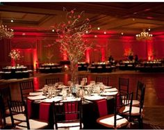 red uplighting | Love Lighting. And Lamp. : wedding bloomington decor Red red