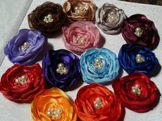 Choose your Color Fabric Flower Hairclip by BananaSueBoutique, $7.00