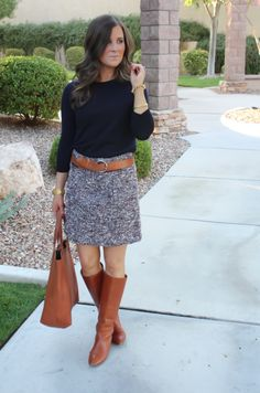 I love this look ~ makes me almost excited to dress for Fall =) Style Report: Classic Tweed