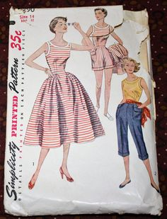 1950's Original Vintage Sewing Pattern Blouse by SewDecadesAgo