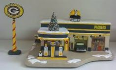Image result for green bay packers christmas village